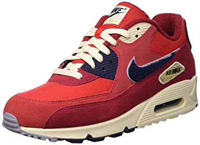 2ff8d0f0d9c11 Nike Men's Air Max 90 Premium SE Running Shoe 11.5 Red