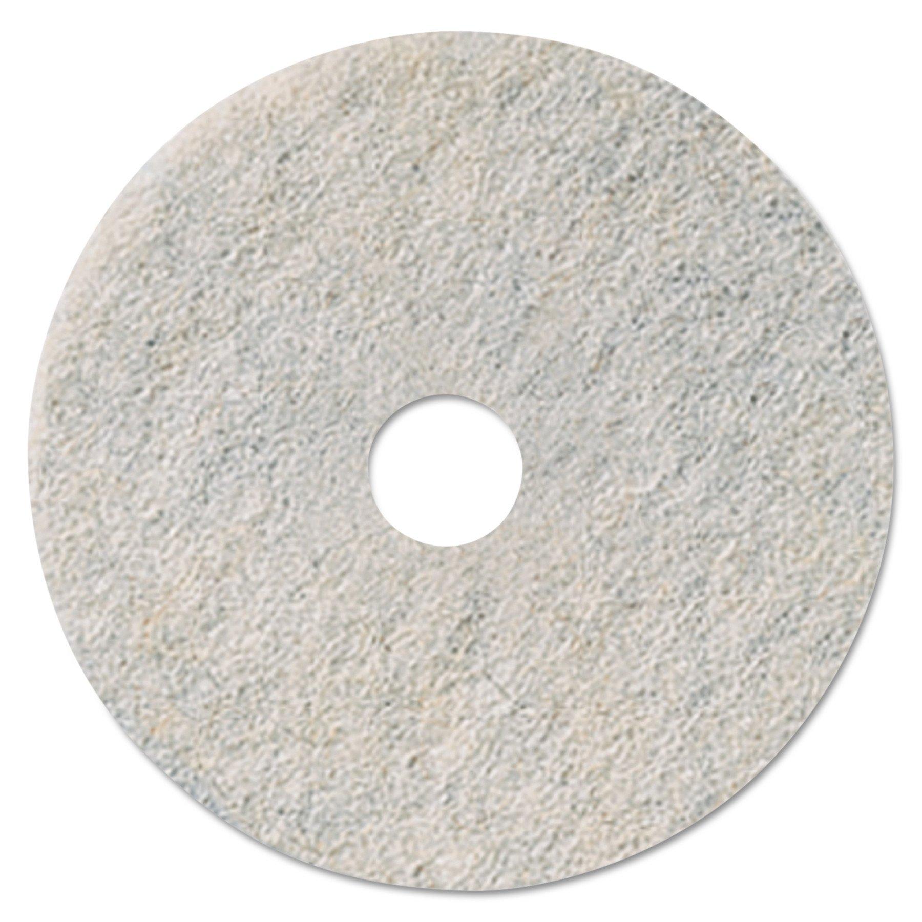 3M 35085 Niagara Natural White Burnishing Pad, 27'' Diameter, White (Case of 5)