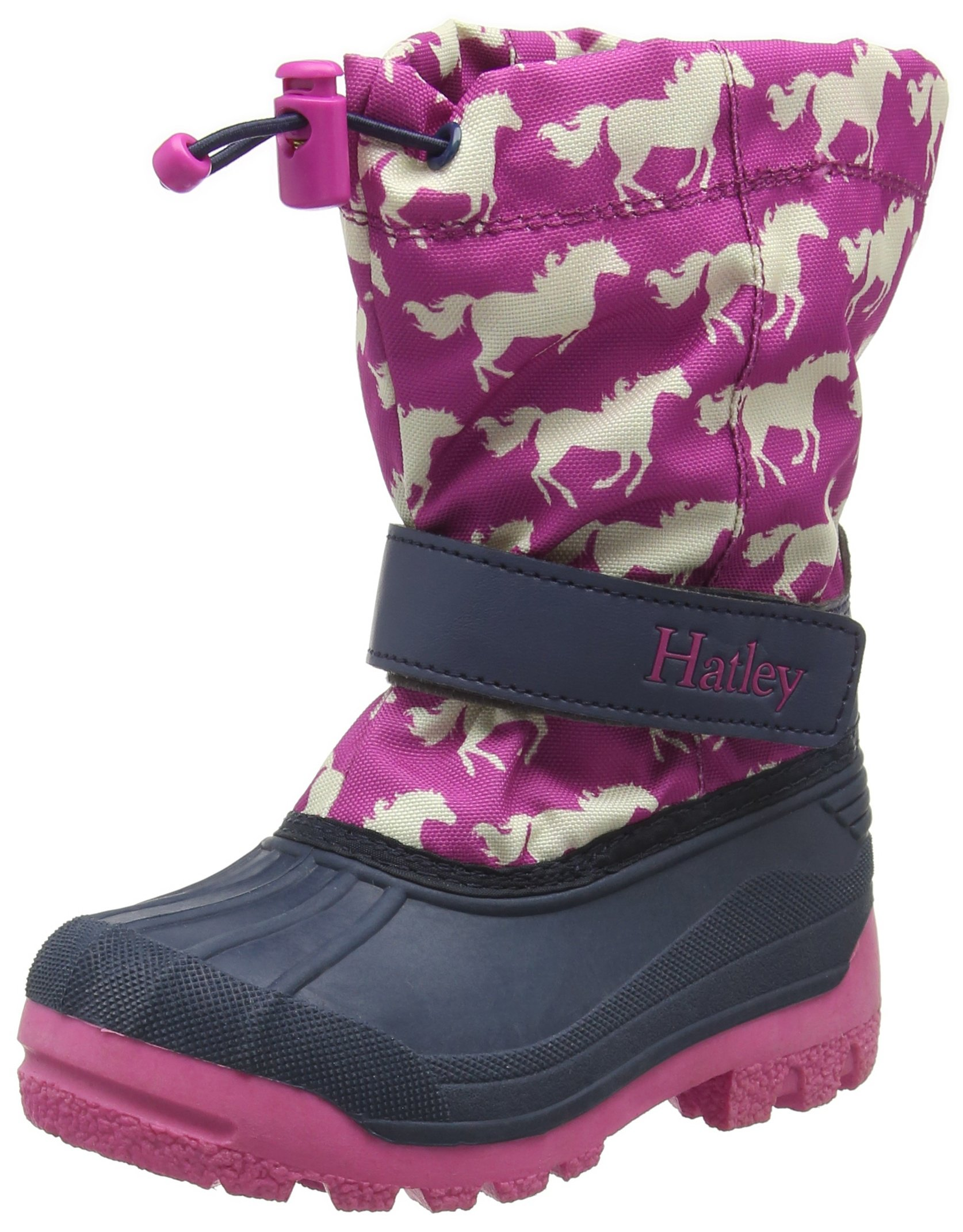 Hatley Little Girls Fairy Tale Horses Winter Boot, Pink, 7 Toddler