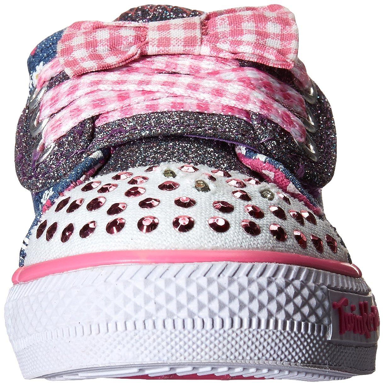 988d81fd03f Skechers Shuffles Daisy Dotty - Zapatilla deportiva de lona niña   Amazon.es  Zapatos y complementos