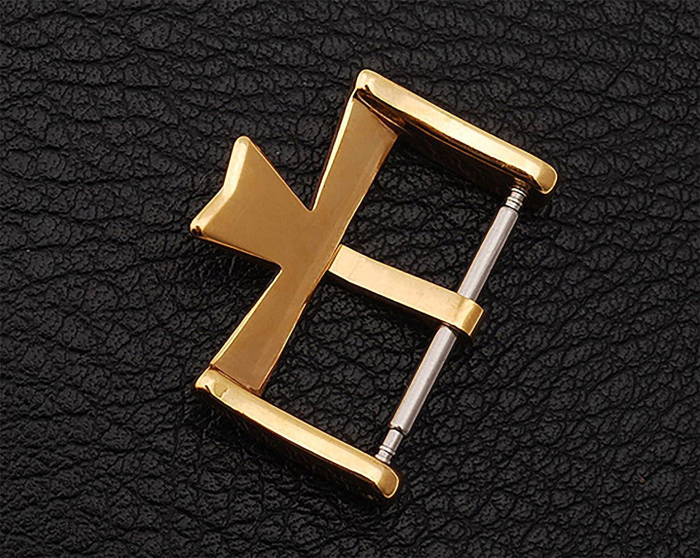 NUEVO 18 mm Cierre Hebilla de acero inoxidable bañados en oro para Vacheron Constantin VC Reloj: Amazon.es: Relojes