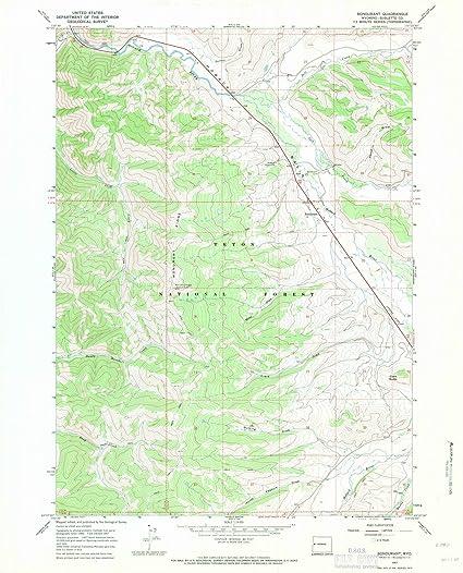 Bondurant Wyoming Map.Amazon Com Wyoming Maps 1967 Bondurant Wy Usgs Historical