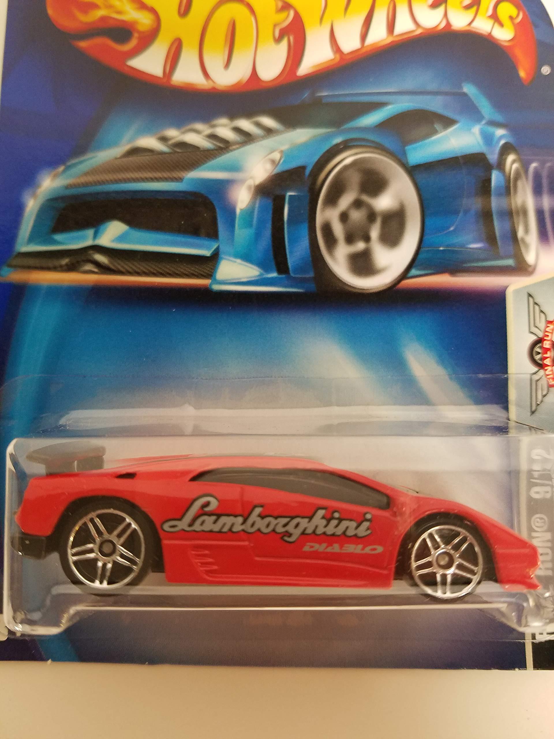 Lamborghini Diablo Final Run 9/12 2003 Hot Wheels diecast car No. 203