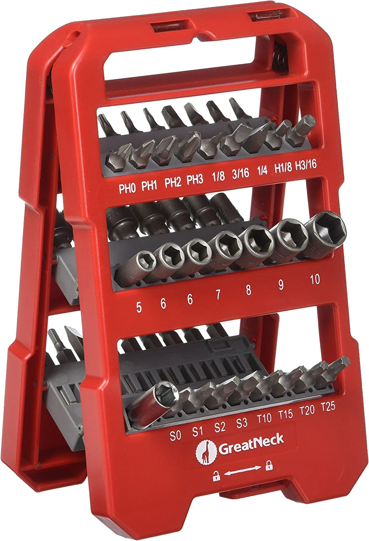 GreatNeck 50 Piece Screwdriver Bit and Socket Set