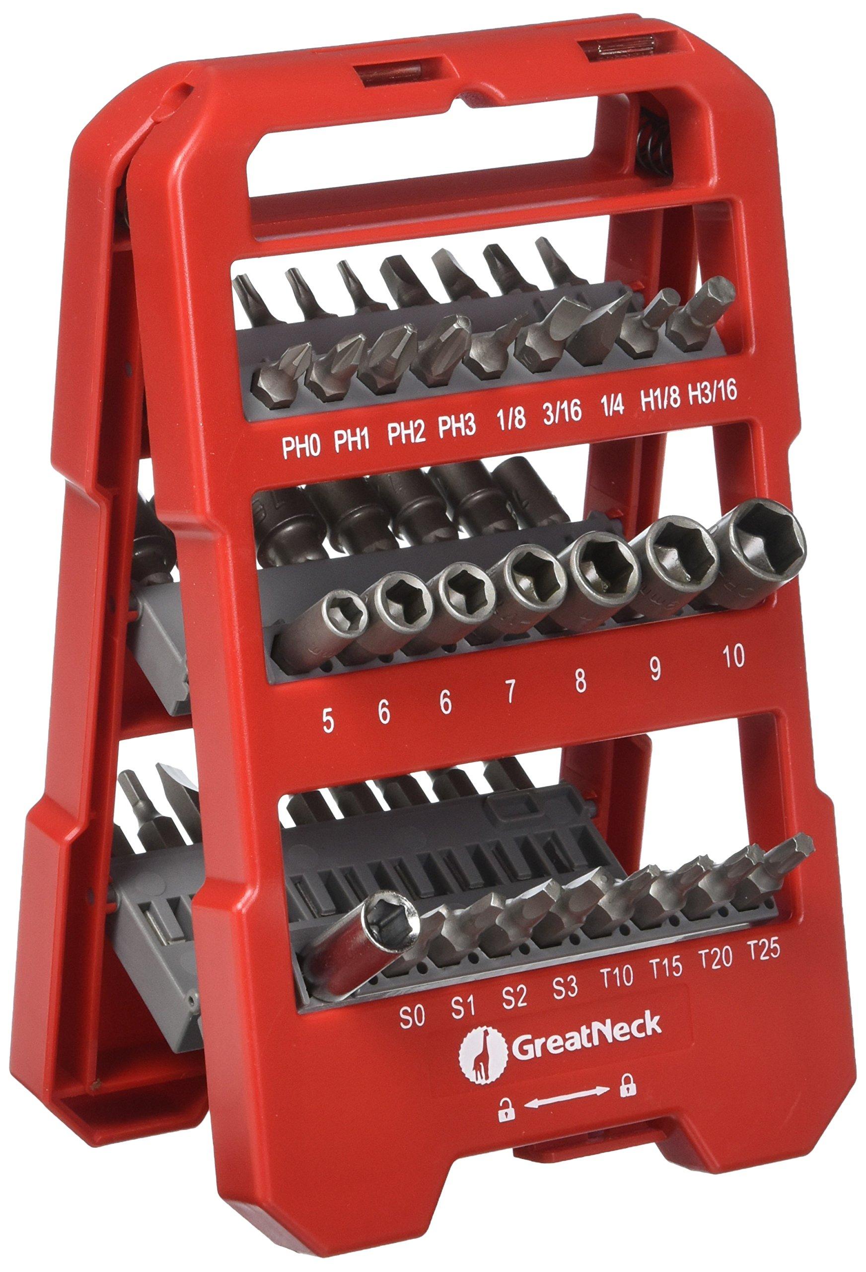 GreatNeck Set de 50 Pz. de destornillador de punta y vaso
