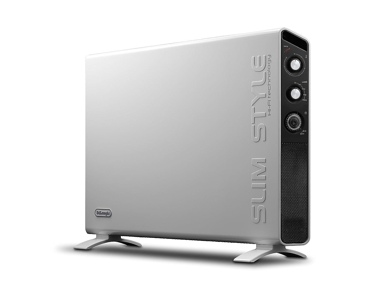 DeLonghi HCX3220FTS - Calefactor (Calentador de ventilador, 24 h, Pared, Piso, Negro, Blanco, Giratorio, 2000 W): Amazon.es: Hogar