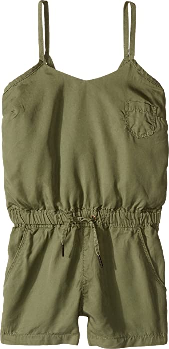 361eed43e630 Amazon.com  Blank NYC Kids Girl s Romper w  Eyelet Detail in Olive (Big  Kids) Olive Jumpsuit  Clothing