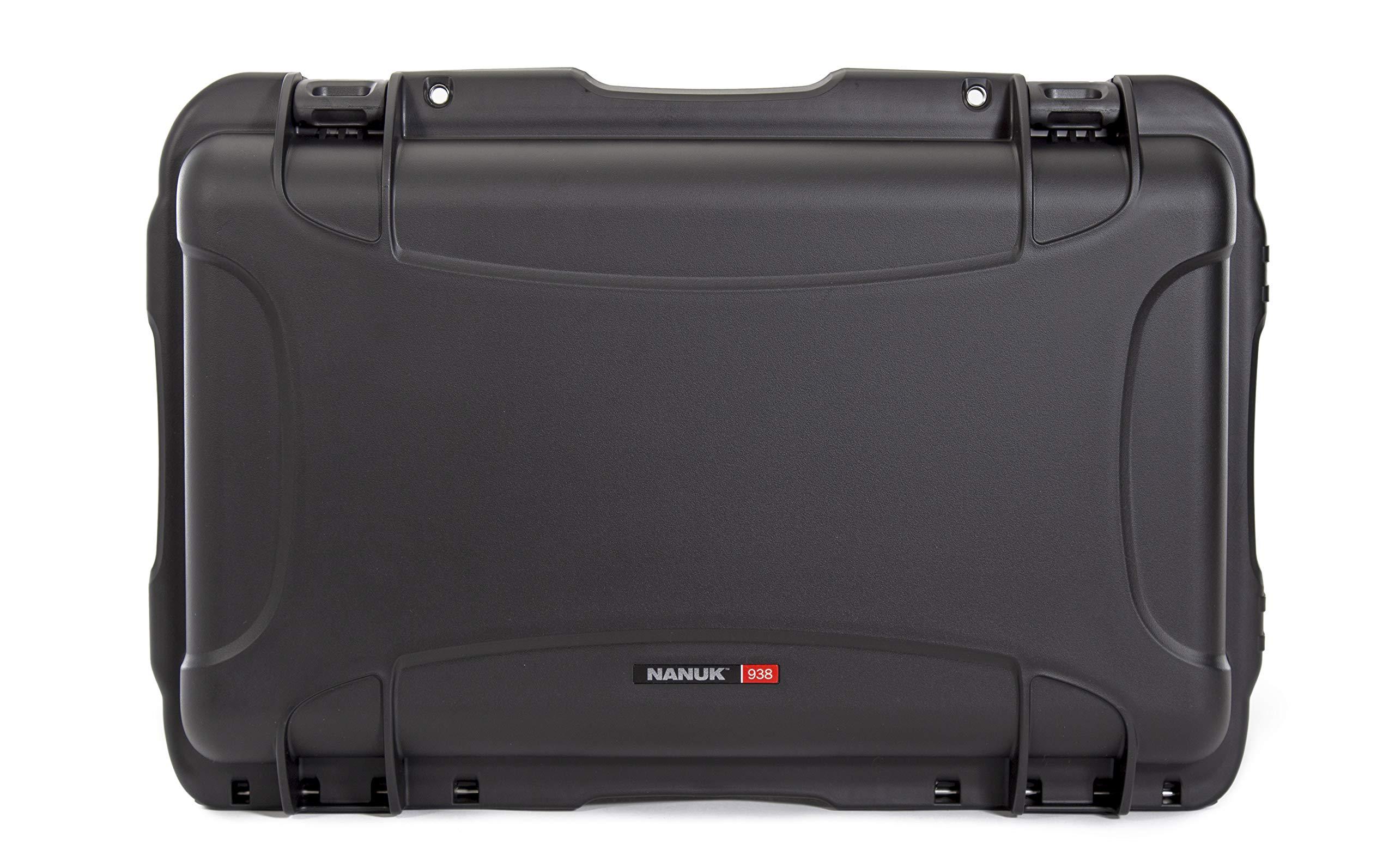 Nanuk 938 Waterproof Hard Case with Wheels and Foam Insert - Black by Nanuk
