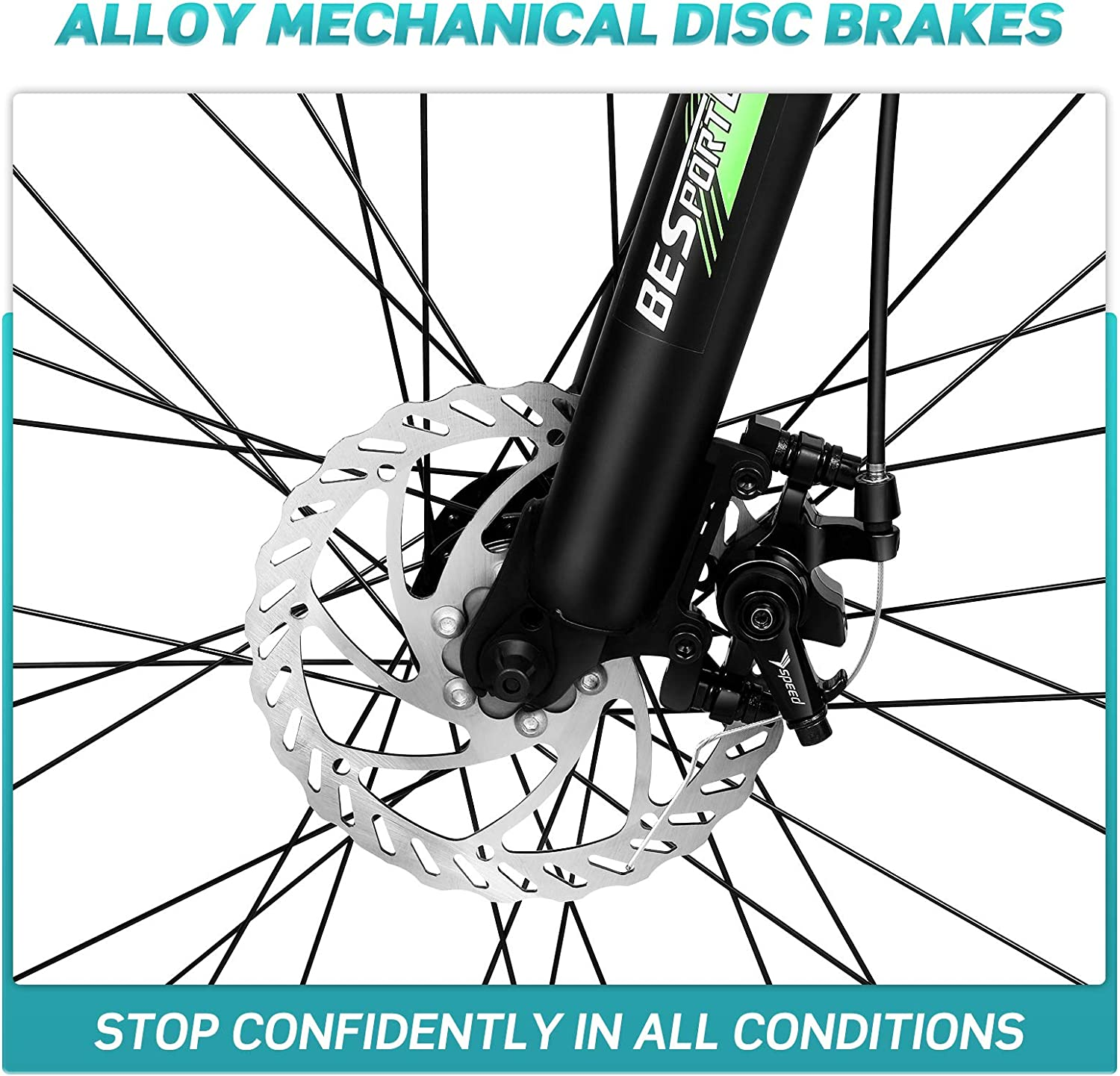 BESPORTBLE Speeds Mountain Bike Riding Bike Mountain Biking for Man Women Adult,US Stock Delivery Within 3-5 Working Days