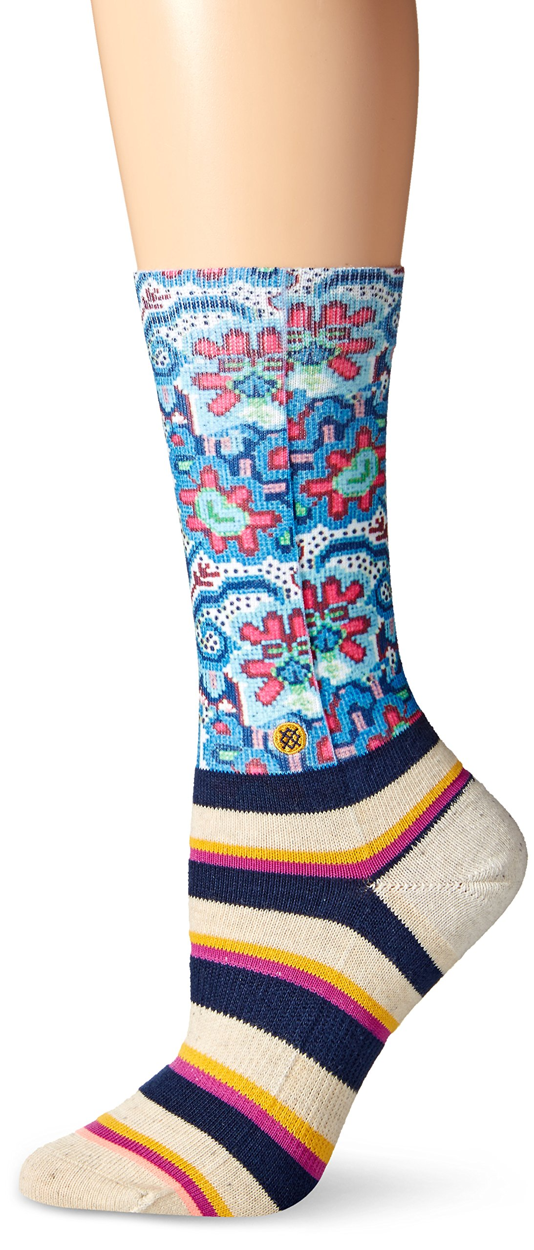 Stance Women's Bella Vida Tomboy Crew Sock, Navy, Small