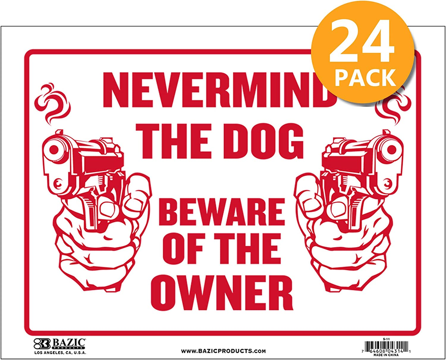 Warning Keep Out Restricted Area Authorized Home Store Plastic Signs BAZIC 9 X 12 Private Property No Trespassing Sign 24-Pack Waterproof Indoor Outdoor Signage on Wall Door Border
