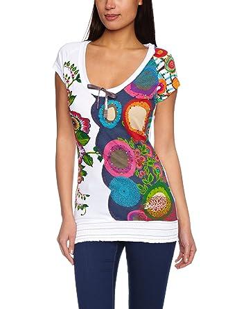 Desigual Damen T-Shirt 21T2604, Gr. 34/XS (Herstellergröße: 36