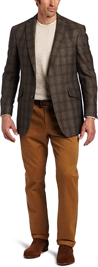 Austin Reed Men S Signature Plaid Two Button Sport Coat Brown 38 R At Amazon Men S Clothing Store Blazers And Sports Jackets
