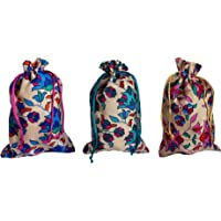 Style and Culture Women's (Pack of 12) Ethnic Potli bag, handbag, wrist bag, pouches (Multicolor) for return gifts.