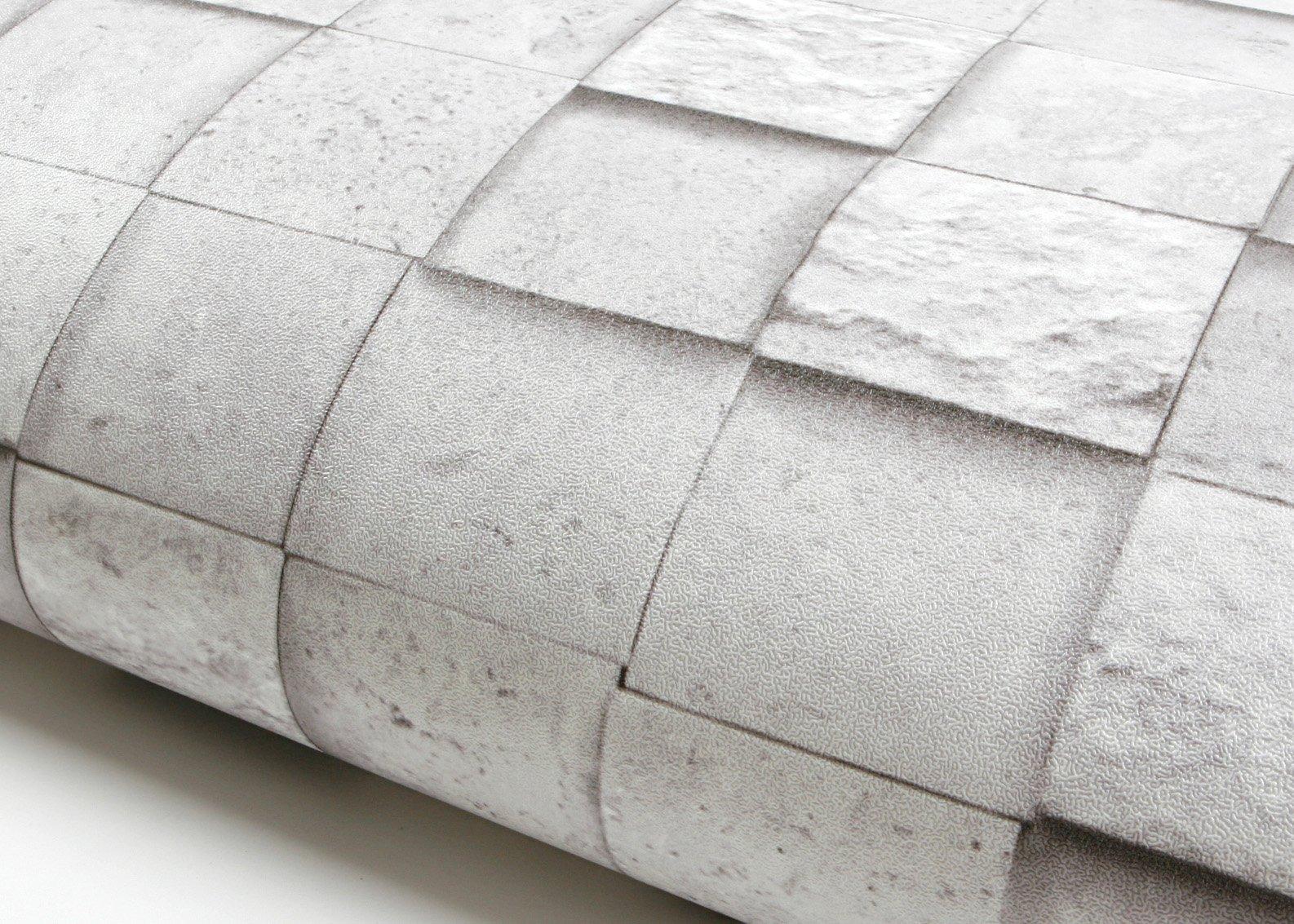 ROSEROSA Peel & Stick Backsplash Graphic Tile Textured Self-Adhesive Vinyl Contact paper Interior Film Shelf Liner Table and Door Reform (LW742 : 2.00 Feet X 6.56 Feet)