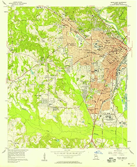 Map Of West Georgia.Amazon Com Yellowmaps Macon West Ga Topo Map 1 24000 Scale 7 5 X