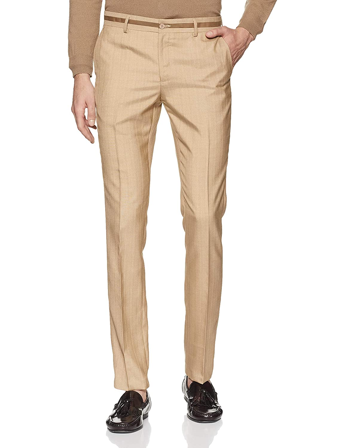 Excalibur by Unlimited Men's Skinny Fit Formal Trousers