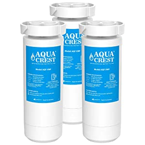 AQUACREST XWF Refrigerator Water Filter, Compatible with GE GBE 21, GDE21, GDE25, GFE24, GFE26, GNE21, GNE25, GNE27, GWE19, GYE18, GSE25, GSS23, GSS25, GZS22, PSE25, CZS22 (Pack of 3)