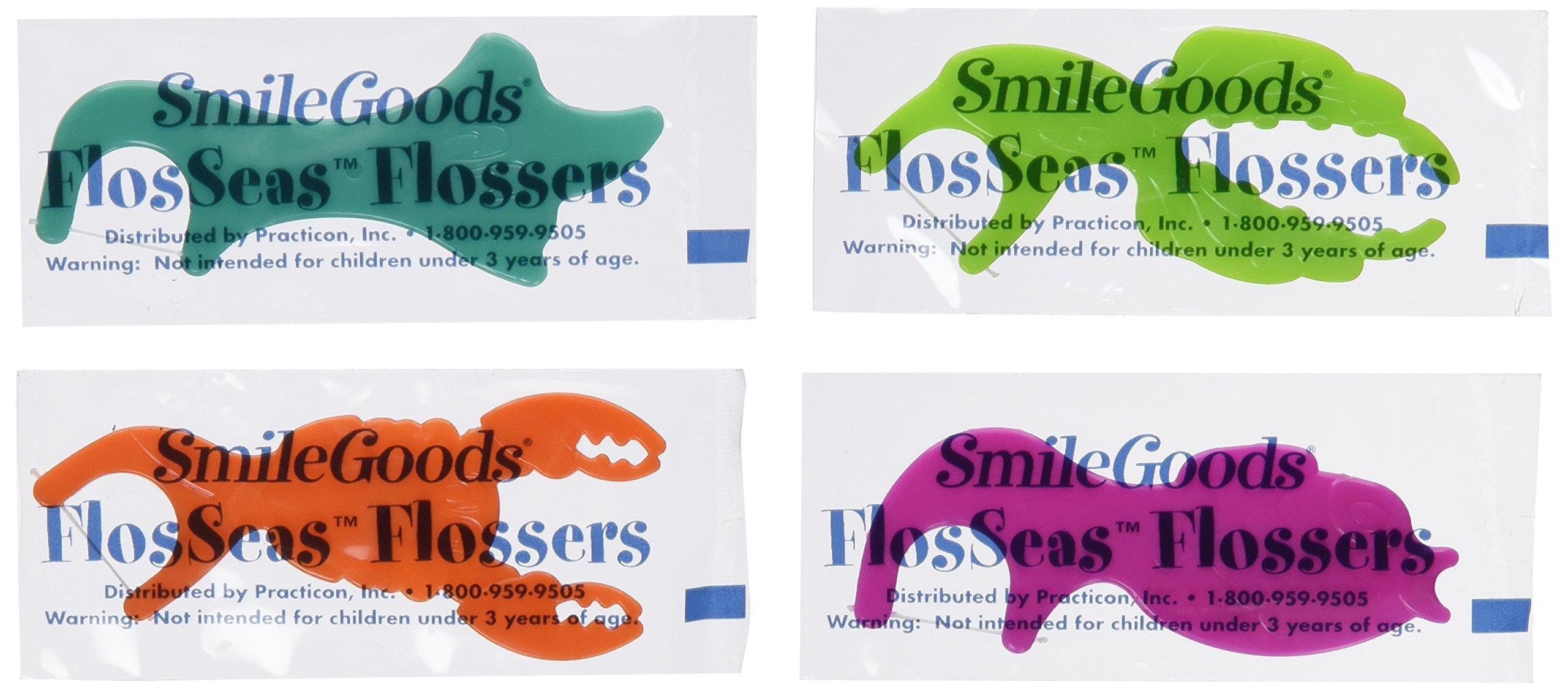 Practicon 7045281 SmileGoods FlosSeas Flossers, Singles (Pack of 200)