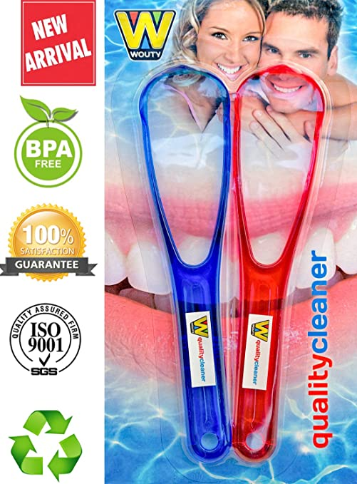 Quality Cleaners Tongue Scrapers Made from Anti-Bacterial, BPA Free Plastic.Tongue Scraper Gives Fresh Breath and Better Taste, Tongue Cleaner is Best Oral Care for Halitosis. THE Tongue Cleaners!
