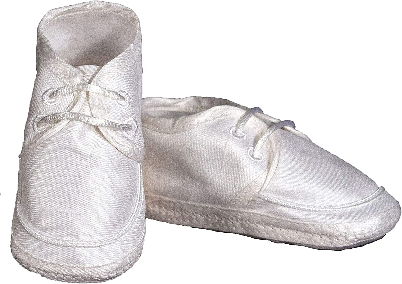 Boys Silk Dupioni Christening Shoe