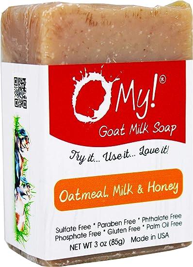 O mi! - Mini O! s cabra leche jabón avena, leche & miel - 3 oz.: Amazon.es: Belleza