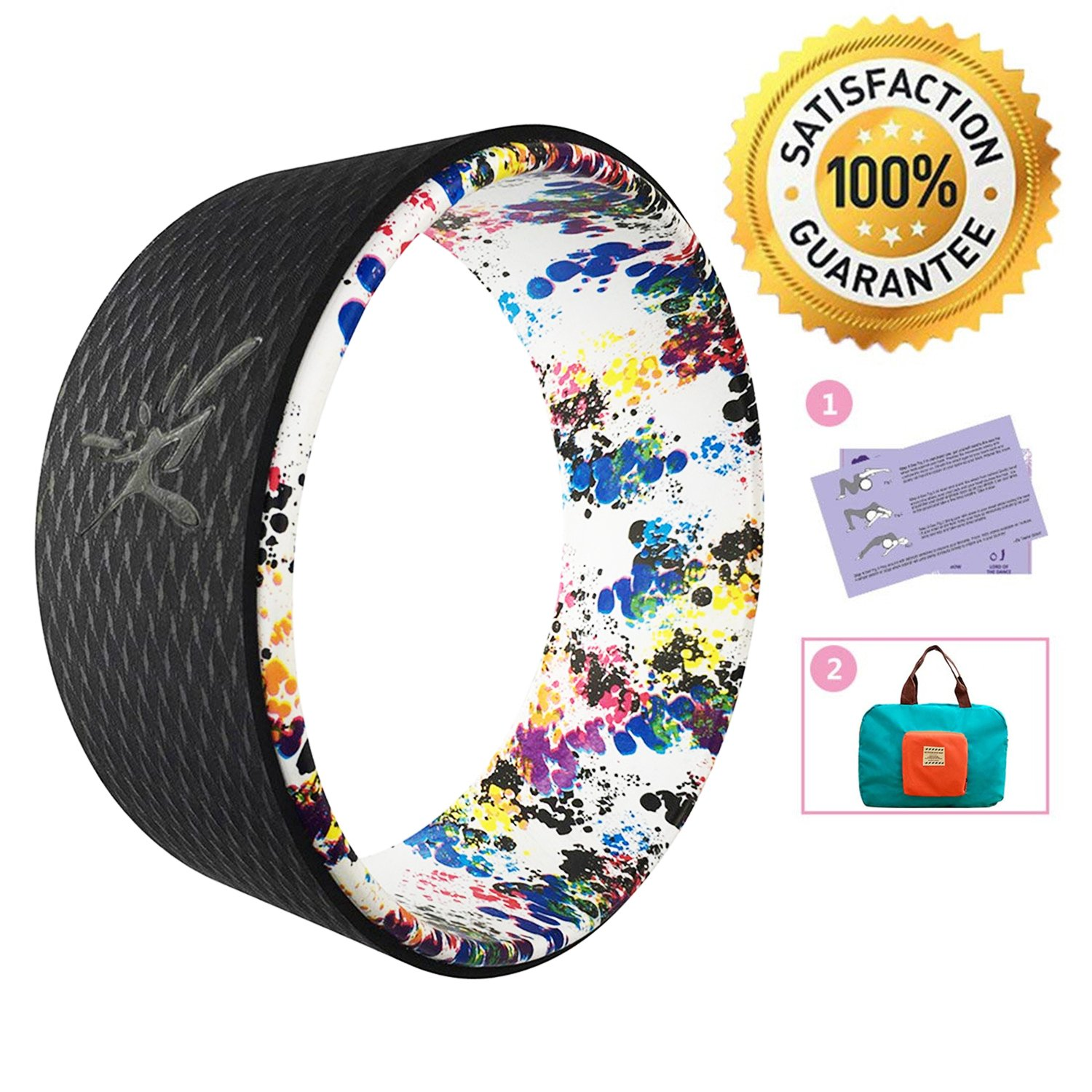 seeknfind 13 x 5 Inch Basic Yoga Wheel - Strongest & Comfortable Dharma Yoga Prop Wheel for All Yoga Poses Perfect Accessory for Stretching Increasing Flexibility and Improving Backbends (7)