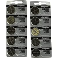 Energizer CR2025 3V Lithium Coin Battery 10 Pack (2 packs of 5)