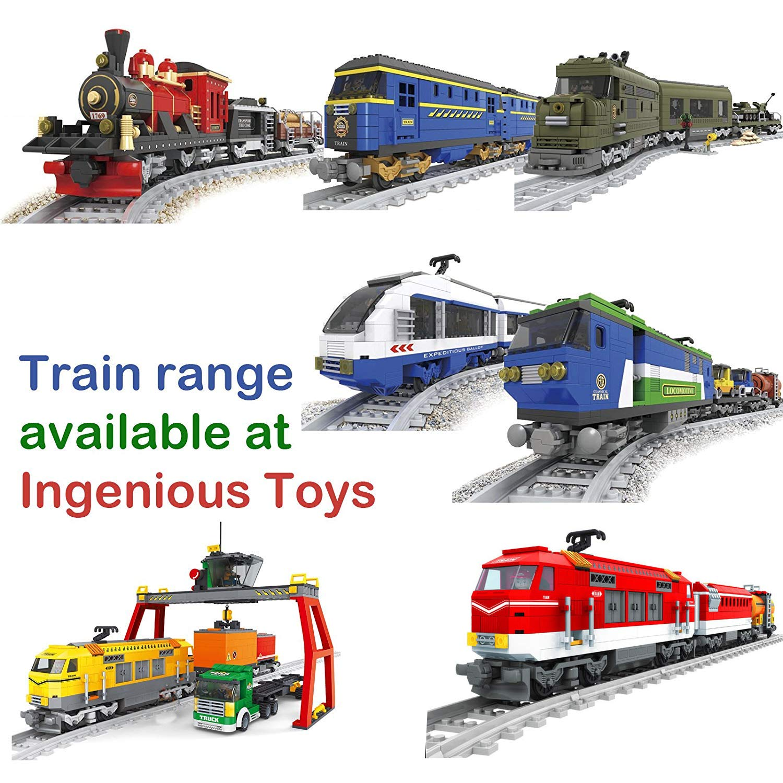Tren De Juguete Locomotora Vagones 8 Piezas Gris Con Vías Compatibles #25705: Amazon.es: Juguetes y juegos