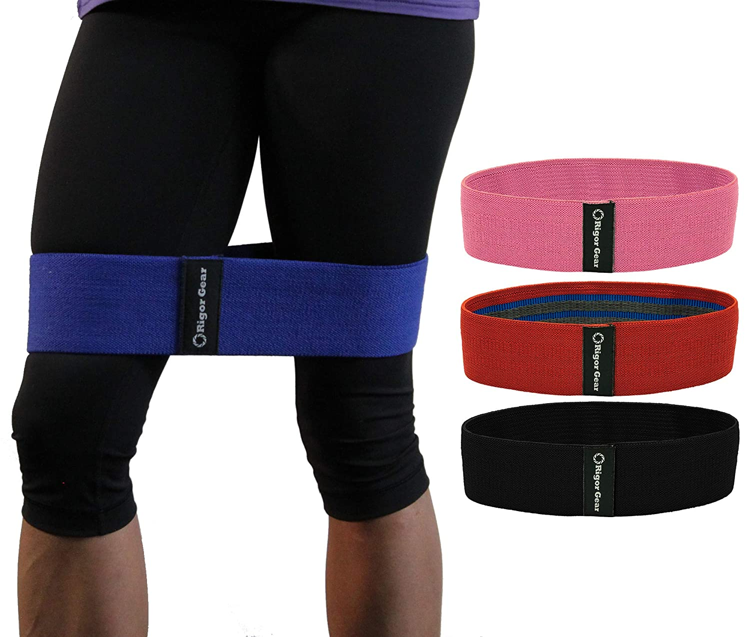 c321d8714eb2 Amazon.com : WODSuperStore Resistance Band for Legs & Butt - Hip Booty  Circle Bands to Tone Glute, Thighs & Hips : Sports & Outdoors