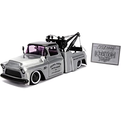 1:24 Jada 20 - K. Kings - '55 Chevy Stepside, Bare Metal, Model:JD31087: Toys & Games