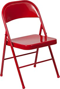 Flash Furniture HERCULES Series Double Braced Red Metal Folding Chair