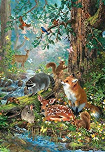 SUNOUT INC Gathered in The Forest 100 Piece Jigsaw Puzzle