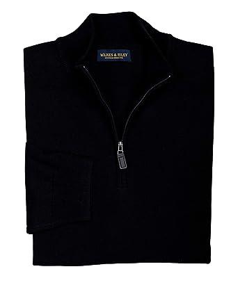 b614ba7c Wilkes & Riley 100% Zegna Baruffa Merino Wool Half Zip Sweater ...