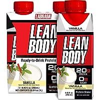 Lean Body Ready-to-Drink Vanilla Protein Shake, 20g Protein, Whey Blend, 0 Sugar, Gluten Free, 22 Vitamins & Minerals…