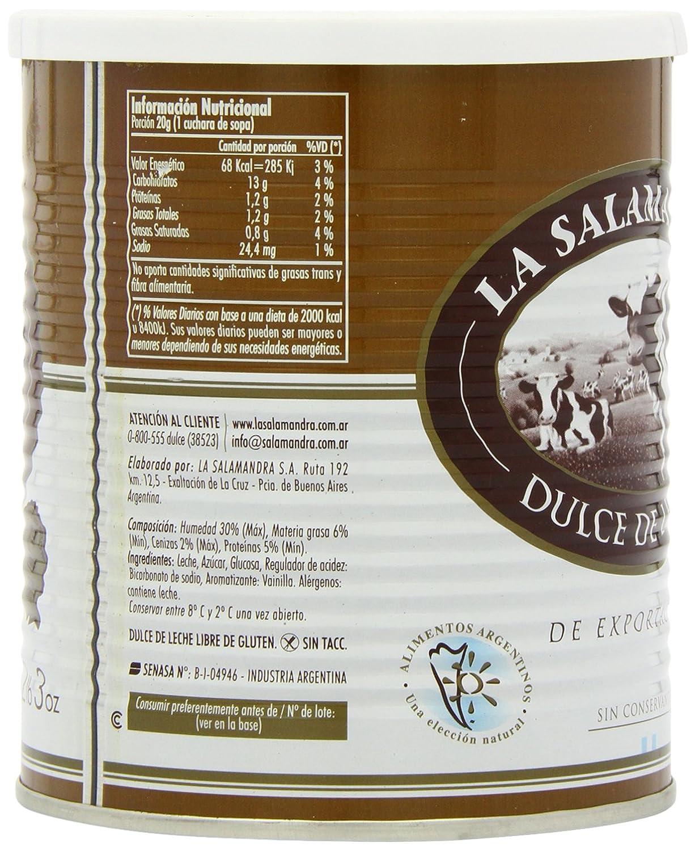 La Salamandra Dulce de Leche in Tin 1 Kg: Amazon.es: Alimentación y bebidas