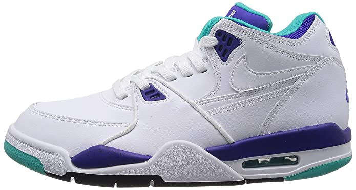 best service 83f84 4aadf Nike Air Flight 89 - White White-Dark Concord-Hyper Jade, 13 D US   Amazon.in  Shoes   Handbags