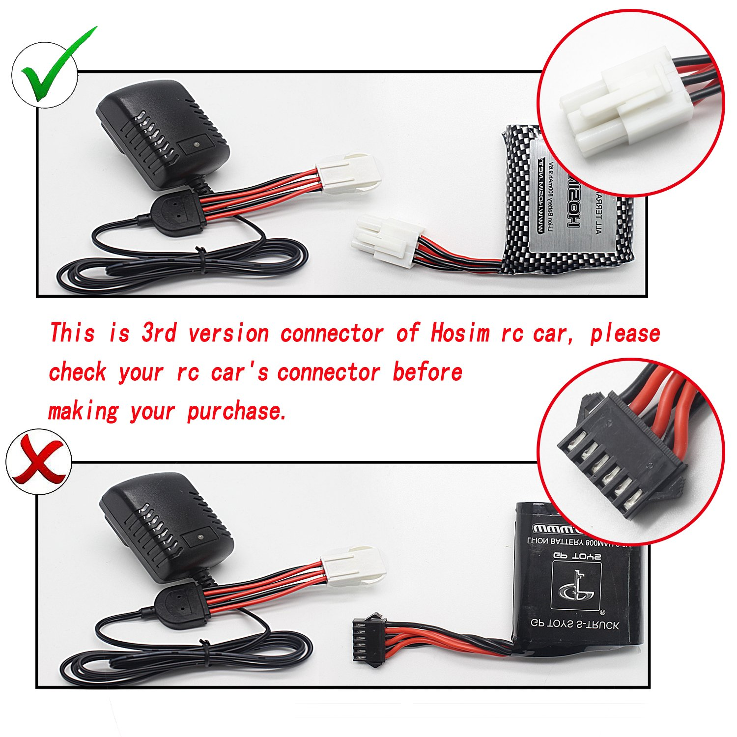 Hosim RC Car Certified Charger Third Version Remote Control Truck Accessory Spare Parts DJ03 for All of RC Truck
