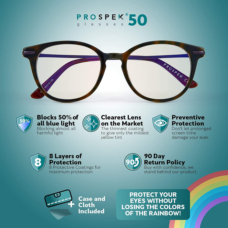 Anti Fog Granite Anti-Glare,Anti-Reflective,Anti-Fatigue UV and Computer//TV Electromagnetic Radiation Protection Scratch Resistant PROSPEK Computer Glasses: Anti Blue Light Computer Glasses
