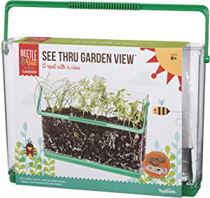 Beetle & Bee See Thru Garden View by Toysmith, Root Viewer - DIY Arts & Crafts Gardening for Kids & Teens, Boys & Girls, See Thru Root Viewer, New Style