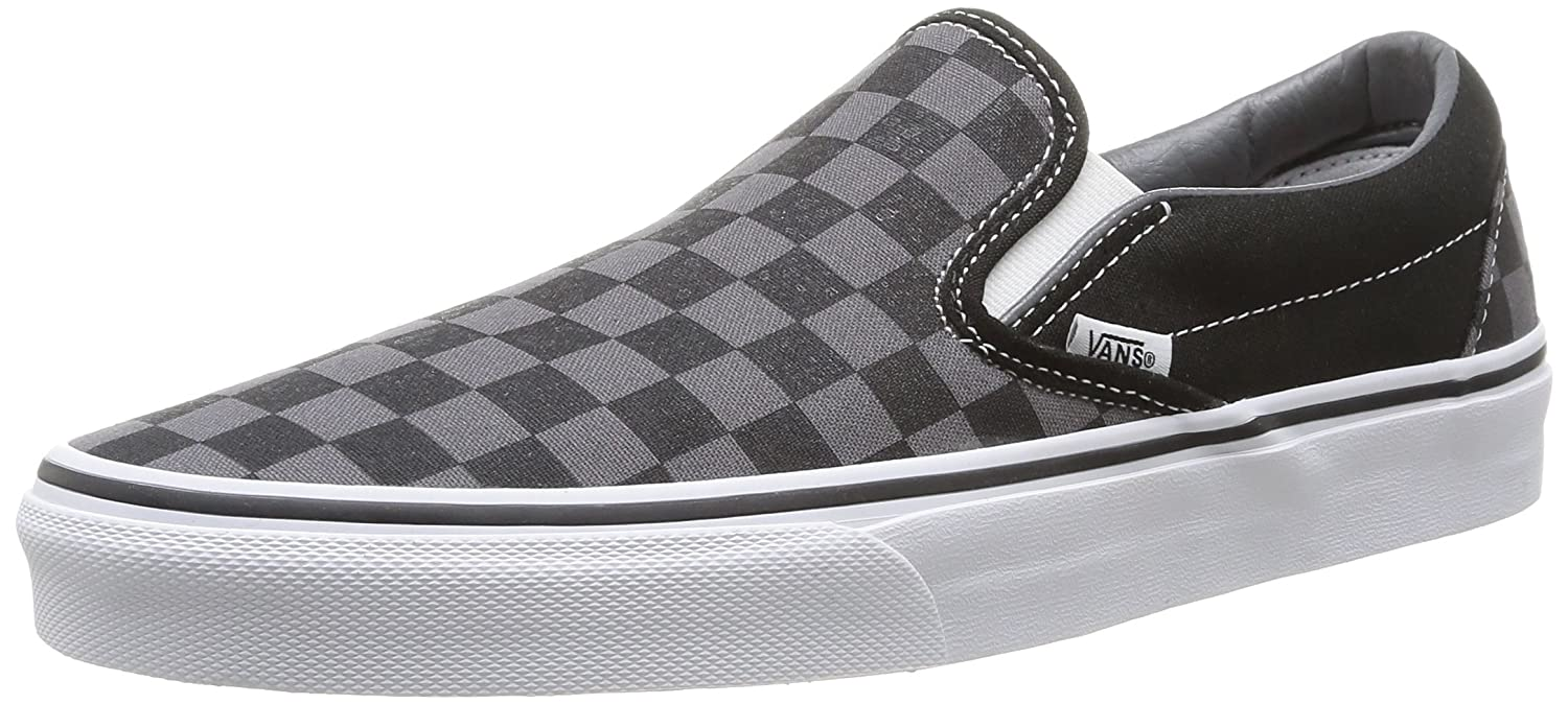 Vans Adult Classic Slip-On, (Checkerboard) Black/Pewter , Men's 16