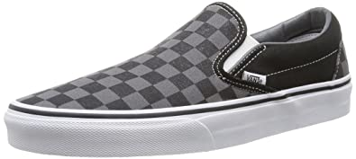 Vans Unisex-Erwachsene Classic Slip-On Low-Top, Schwarz (black and white checker/white), 48 EU