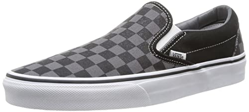 Vans Classic Grey Black Canvas Unisex Slip-on Trainers Shoes-4