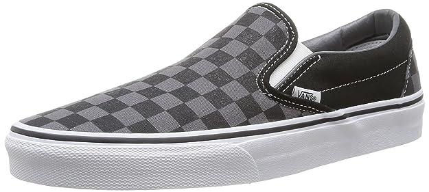Vans Classic Slip-On - Mocasines unisex, color negro (checkerboard), talla 41