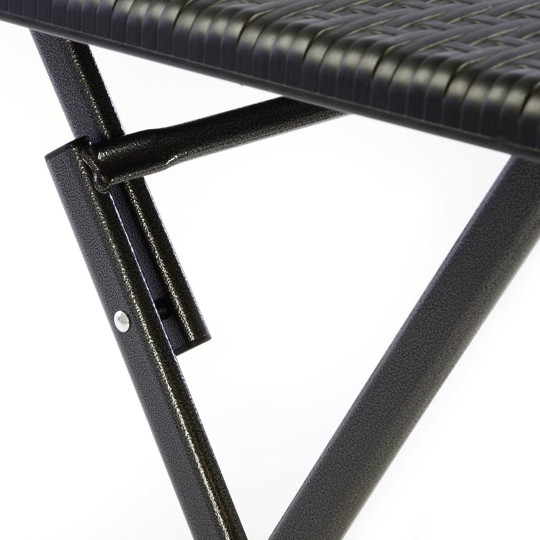 Bistroset Tisch In Schwarz Tischset Balkon Stühlen Set Mit Kunststoff 2 Optik 3er Rattan Garnitur Balkonset Terrasse Nexos Garten Klappbar 1 8nOwXkP0