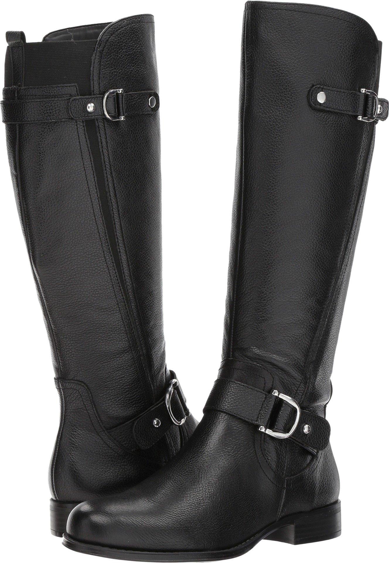 Naturalizer Women's Jenelle Riding Boot, Black, 8.5 W US