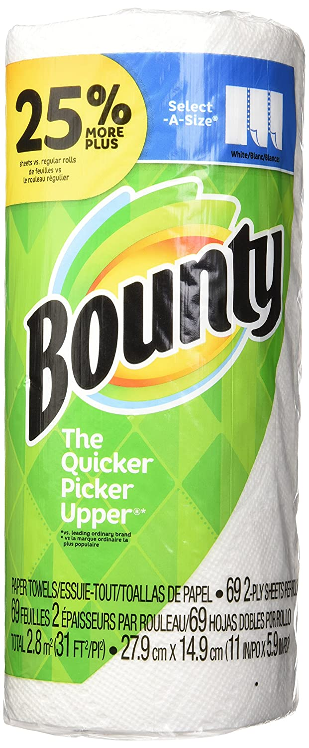 Bounty Select A Size Paper Towels White 1 Large Roll 25 More
