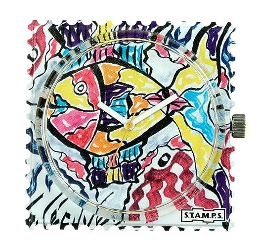 S.T.A.M.P.S. Stamps Reloj, esfera Frogman, impermeable lécuyer 2, diseño 104604: Amazon.es: Relojes