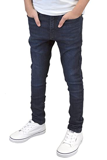 01a0bb6df58 Boys Kids Youths Skinny Stretch Ripped Non Ripped Designer Jeans (Darkwash