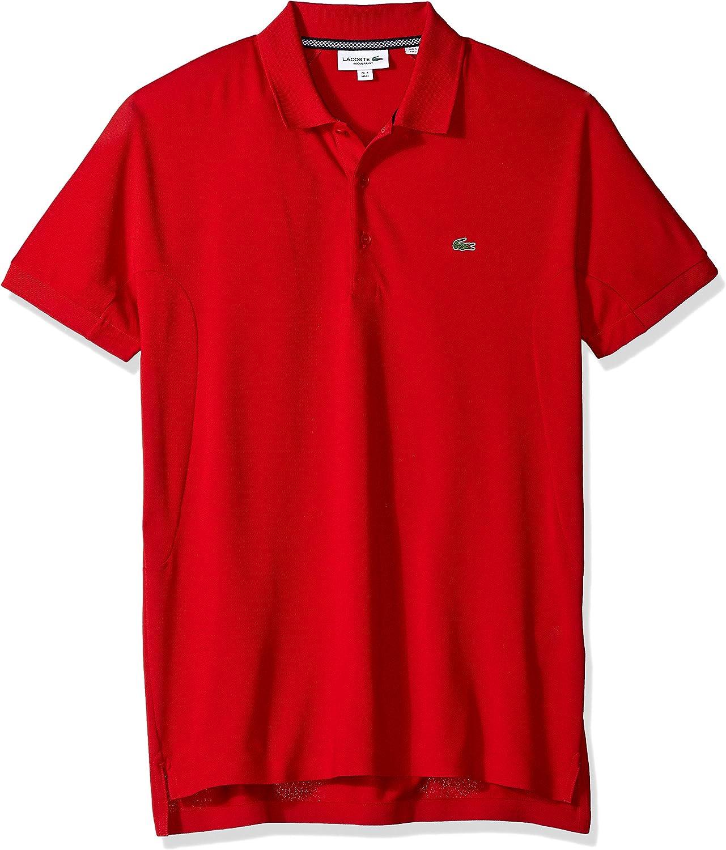 Lacoste Mens Short Sleeve Stripe Pique Regular Fit Polo PH3154